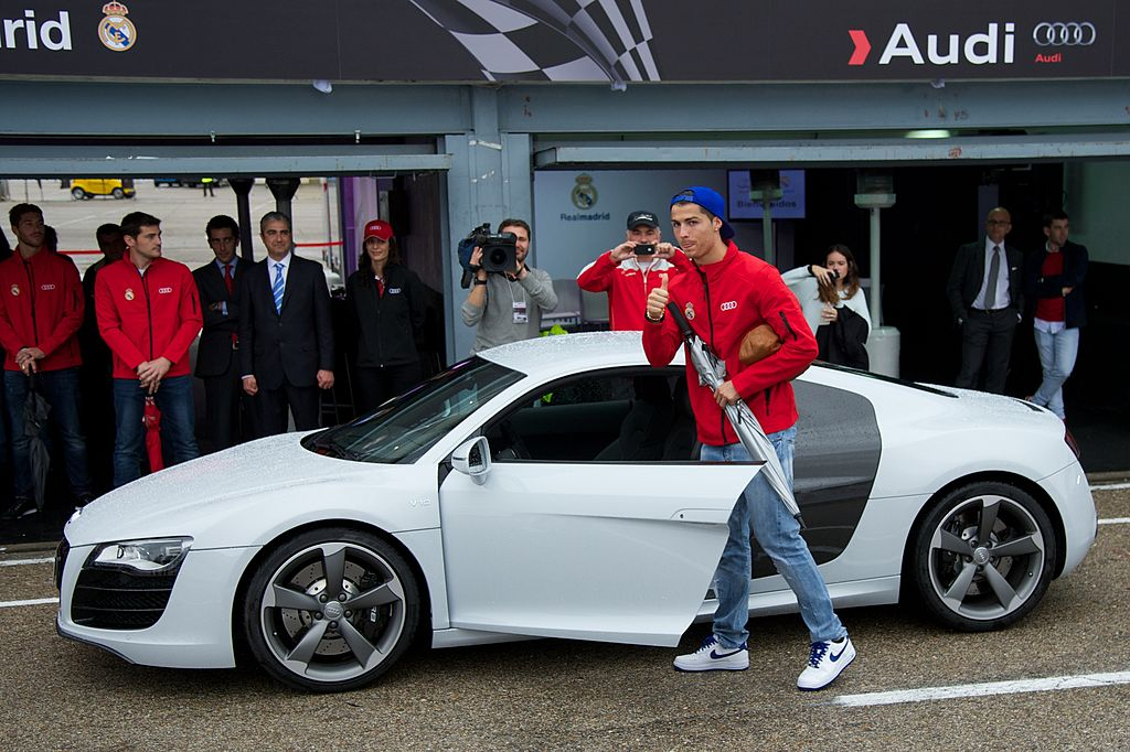 Real Madrid Players Receive New Audi Cars in Madrid, Juventus, Portugal