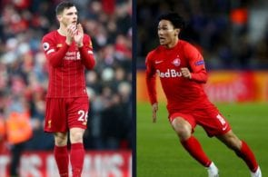 Takumi Minamino, Andy Robertson, Liverpool, Premier League