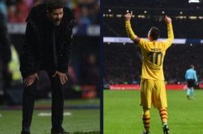 Simeone's priceless reaction to Messi's goal yesterday