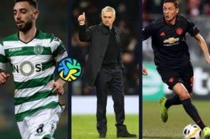 Bruno fernandes, Nemanja Matic, Jose Mourinho