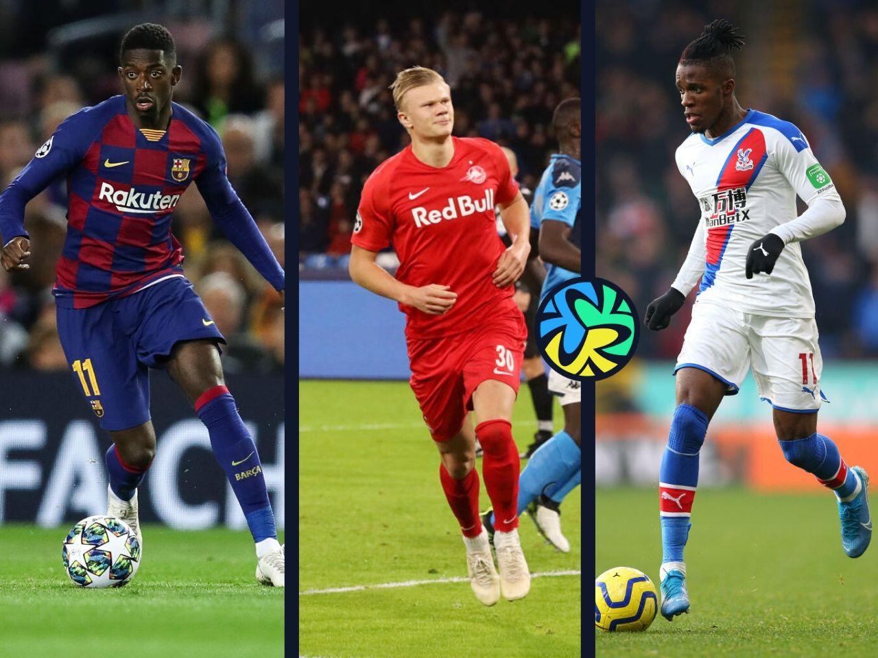 Ousmane Dembele, Erling Haaland, Wilfried Zaha