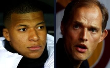 Trouble in Paris Mbappe completely ignores Tuchel image
