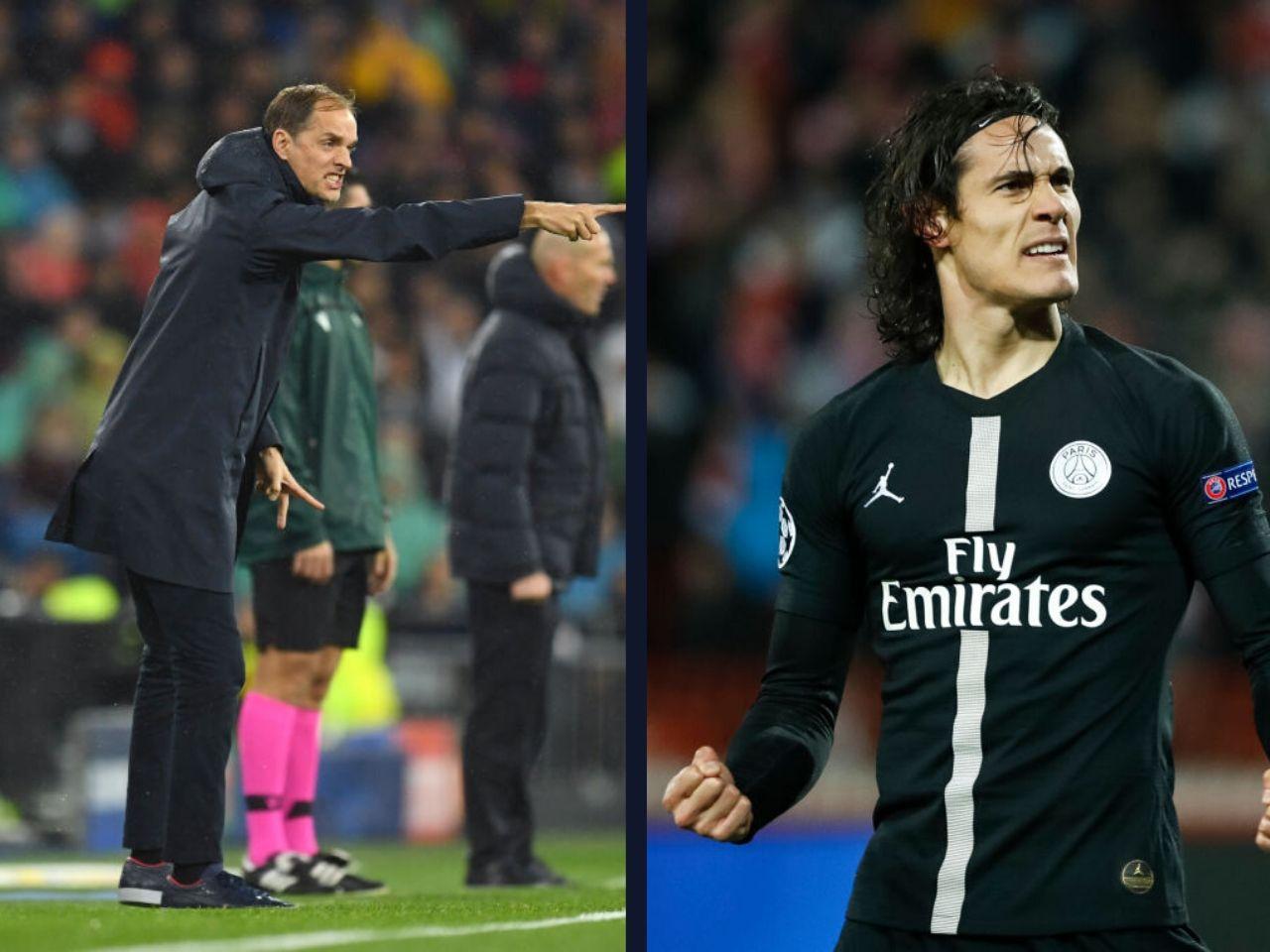 Thomas Tuchel, Edinson Cavani, PSG, Ligue 1