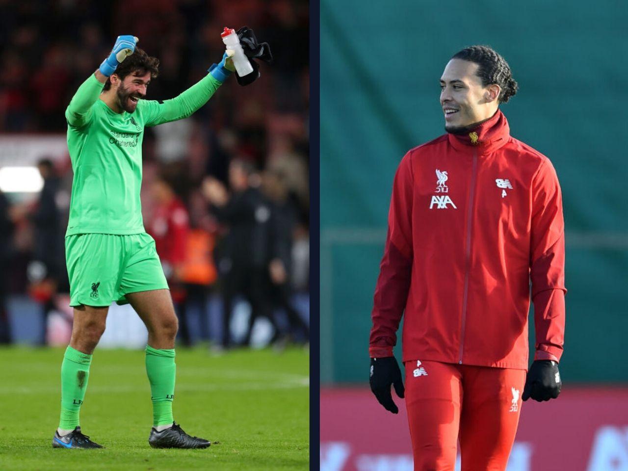 Virgil van Dijk, Alisson Becker, Liverpool FC, Premier League