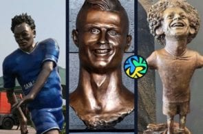 ronaldo statue, 10 worst statues that football has ever seen