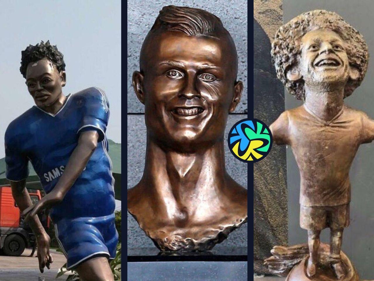ronaldo statue, 10 worst statues that football has ever seen