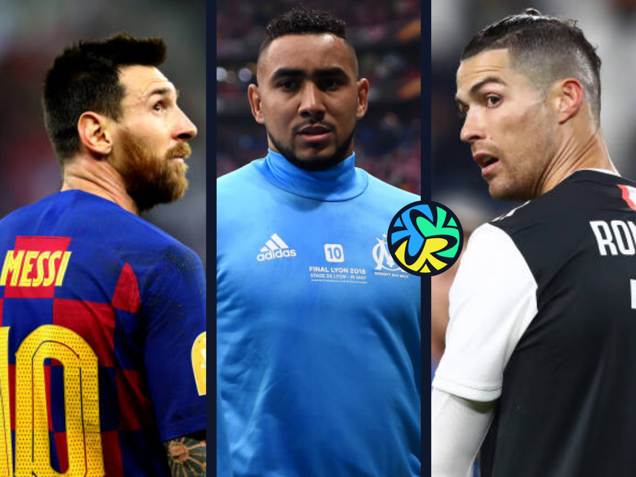 Lionel Messi of Barcelona, Dimitri Payet of Marseille, Cristiano Ronaldo of Juventus