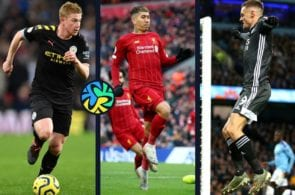 Top 5 players in the Premier League season's first half