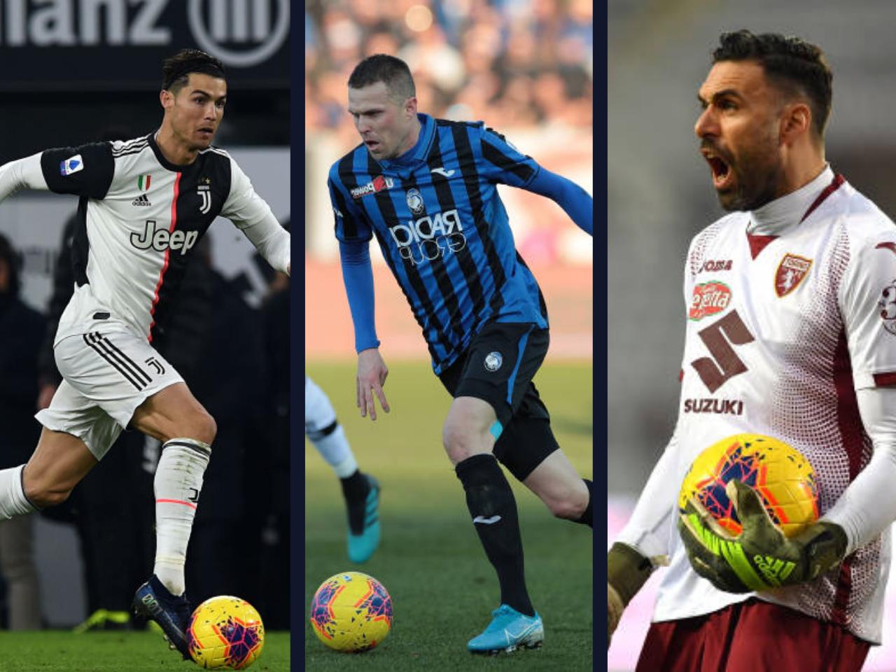 Cristiano Ronaldo, Josip Ilicic, Salvatore Sirigu