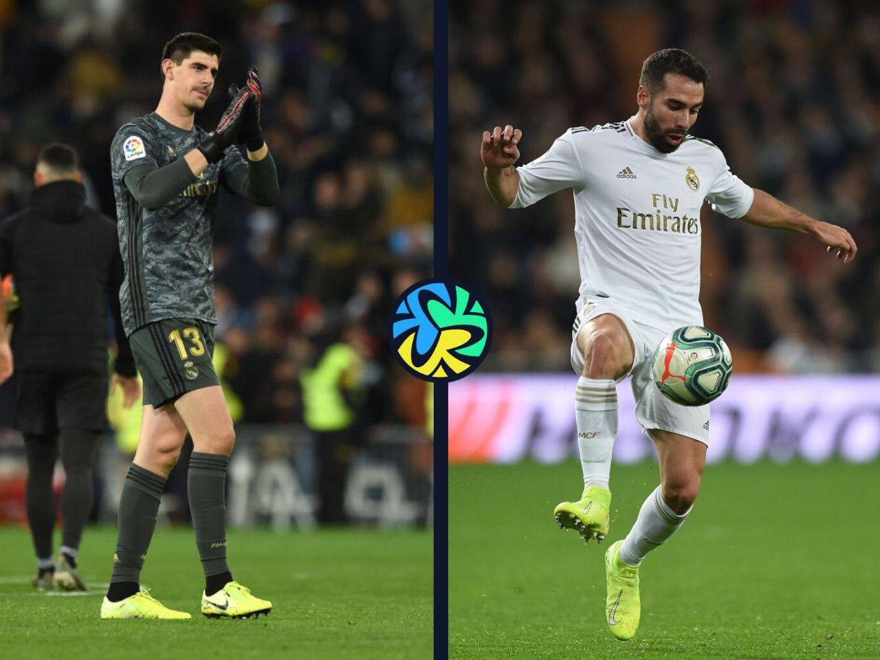 Dani Carvajal, Thibaut Courtois, Real Madrid, La Liga