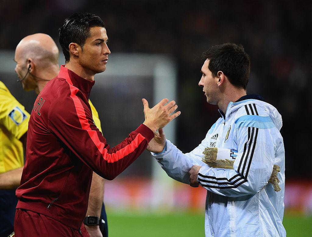 Lionel Messi, Cristiano Ronaldo, Portugal vs Argentina
