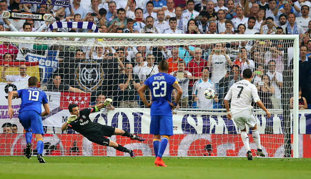 Goalkeeper Gianluigi Buffon, Cristiano Ronaldo