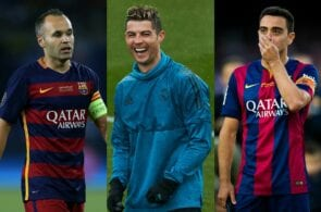 Andres Iniesta, Cristiano Ronaldo, Xavi Hernandez