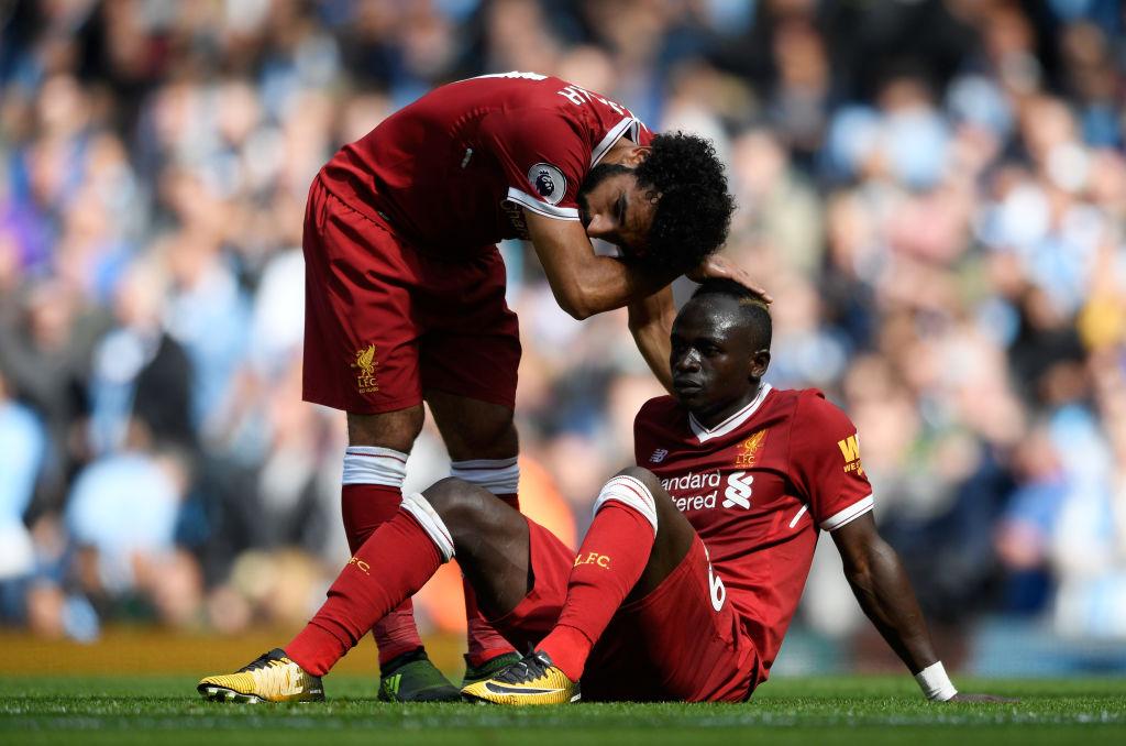 Mohamed Salah and Sadio Mane of Liverpool