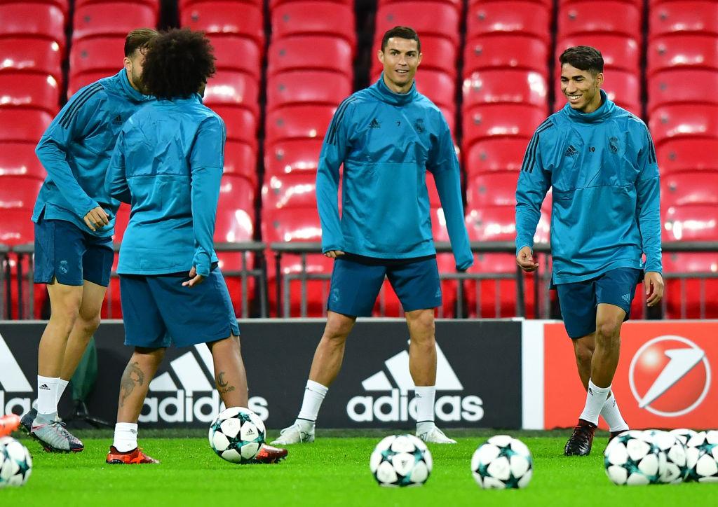 Achraf Hakimi, Cristiano Ronaldo, Real Madrid Training