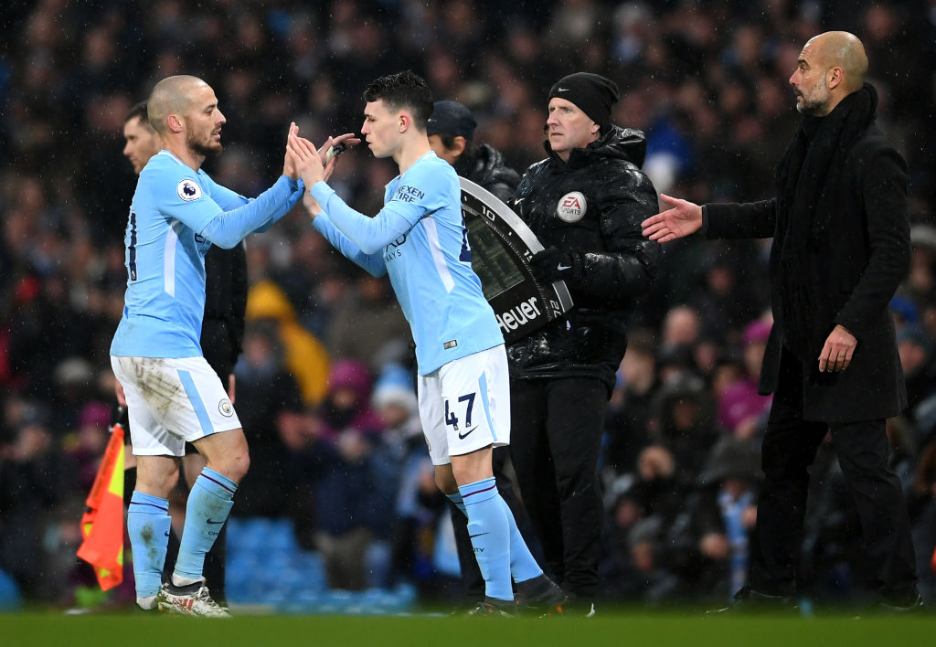 Phil Foden, David Silva, Manchester City