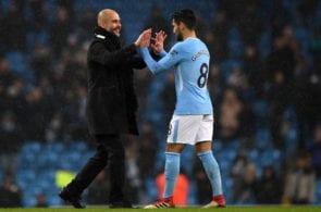 Pep Guardiola, Ilkay Gundogan, Manchester City