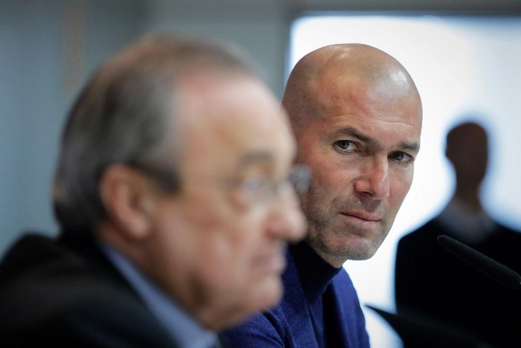 Zidane, Florentino Perez