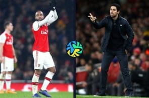 Mikel Arteta, Alexander Lacazette, Arsenal, Premier League