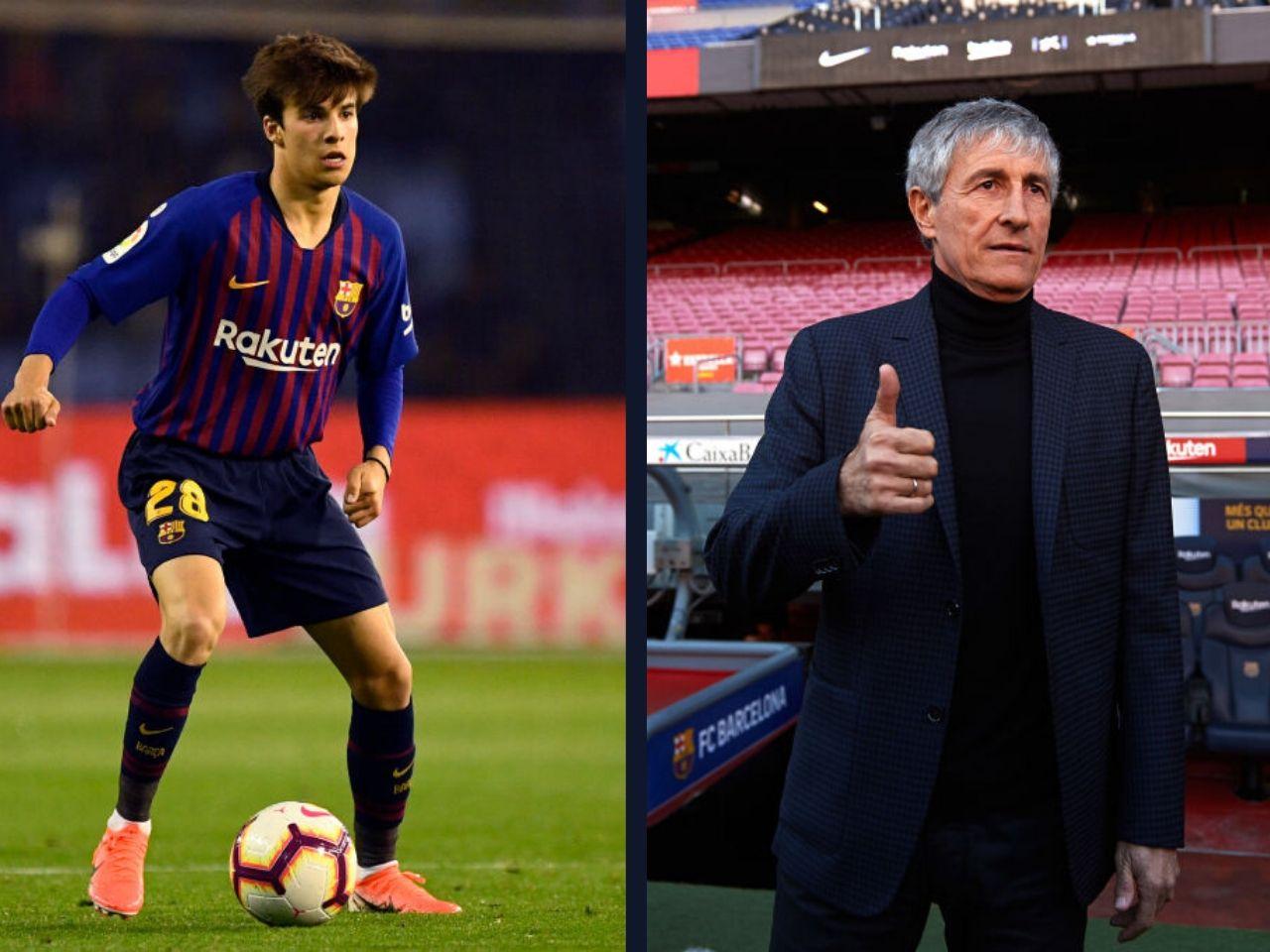Riqui Puig, FC Barcelona, La Liga, Quique Setien