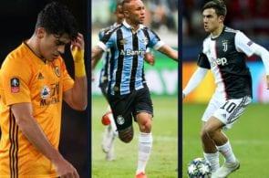 Raul Jimenez, Everton Soares, Paulo Dybala
