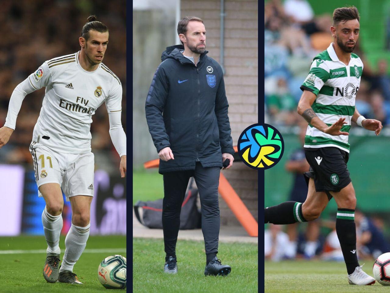 Bruno Fernandes, Garth bale, Gareth Southgate
