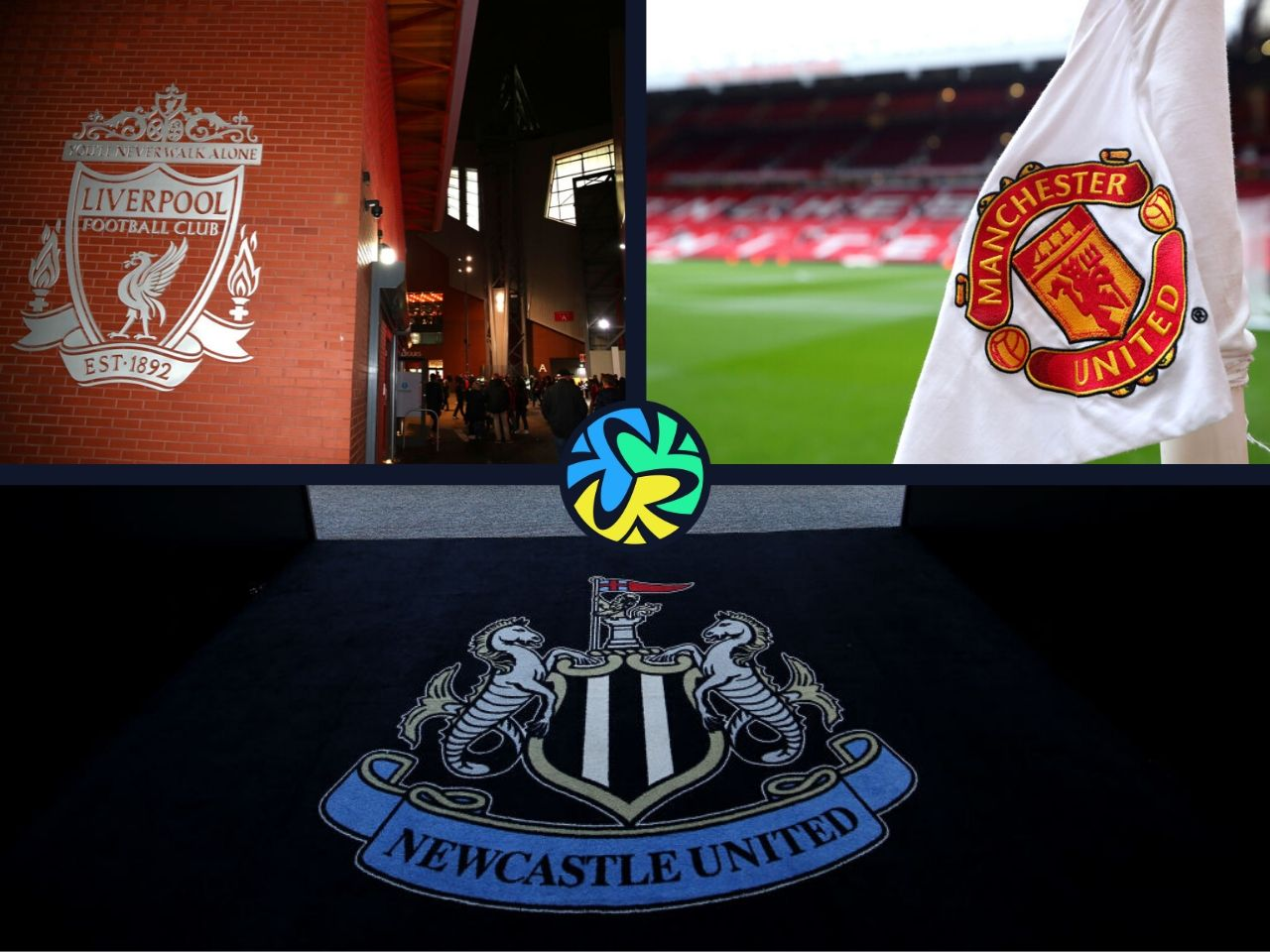 Liverpool, Newcastle United, Manchester United