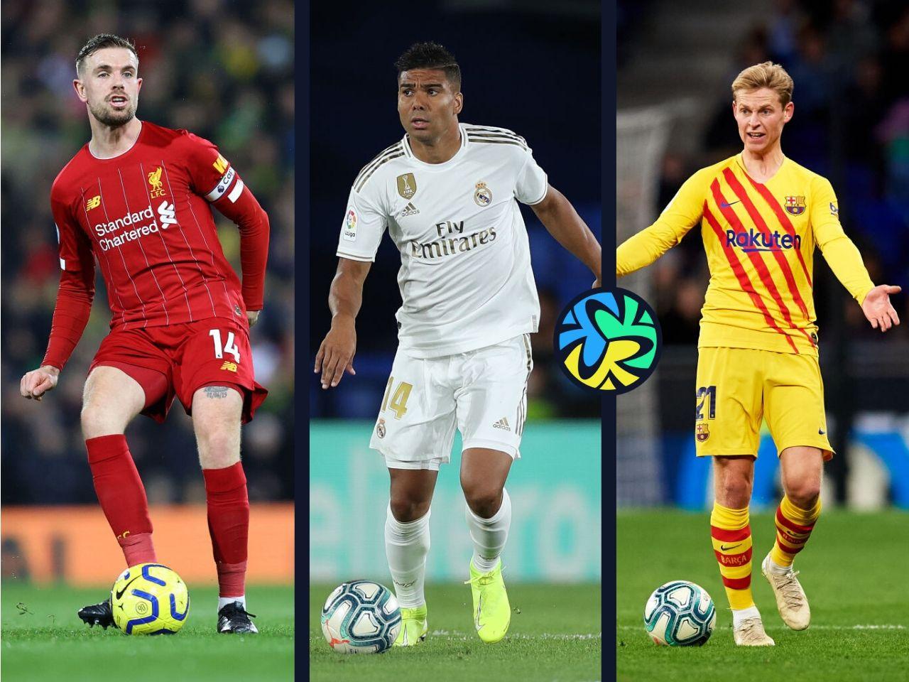 Top 5, midfielders