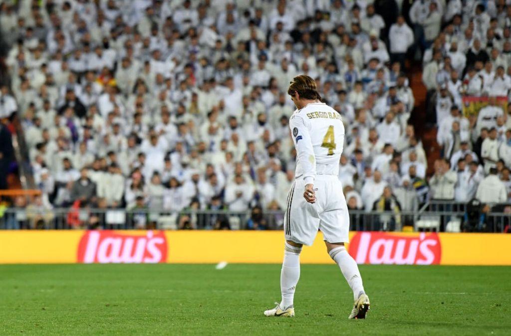 Sergio Ramos, red card