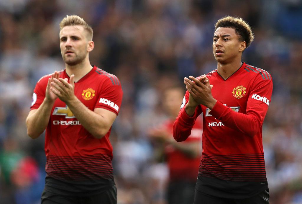 Jesse Lingard, Luke Shaw, Manchester United
