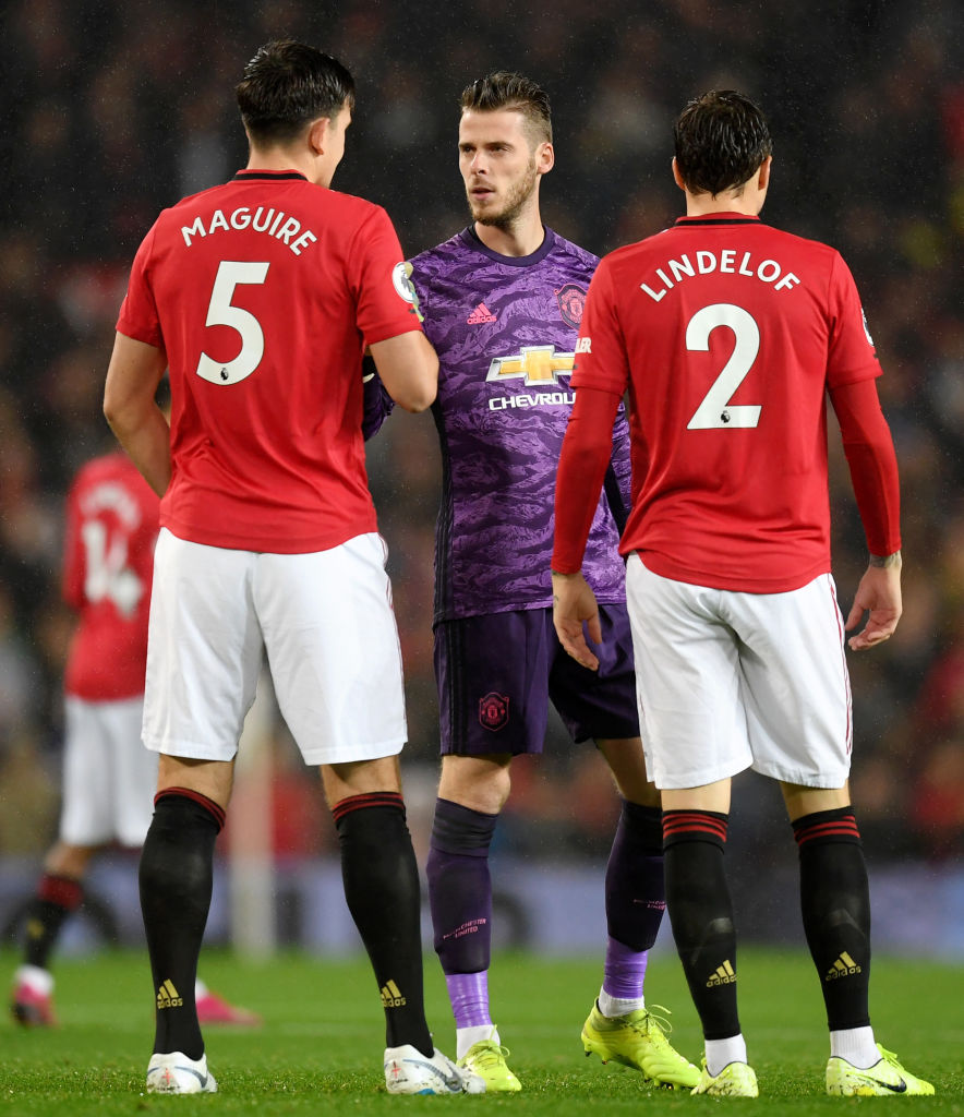 Maguire, De Gea, Lindelof, Manchester United