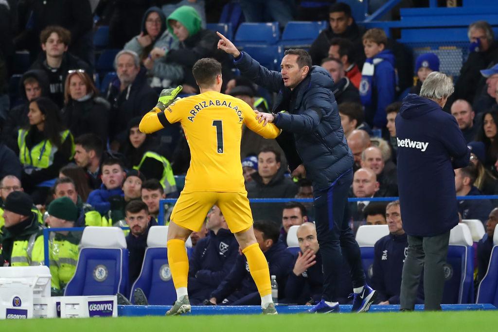 Kepa Arrizabalaga, Frank Lampard, Chelsea