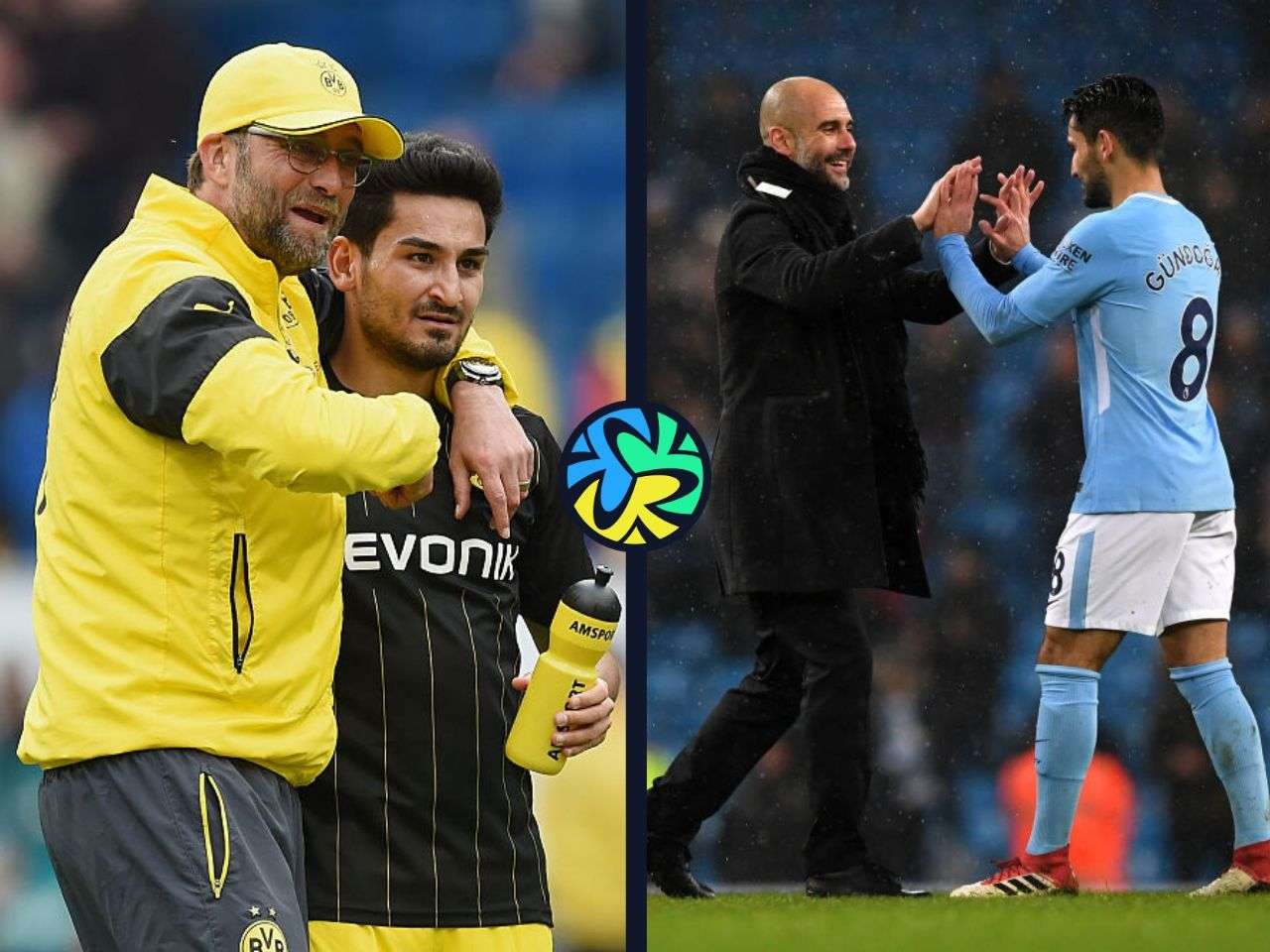 Klopp, Guardiola, Gundogan