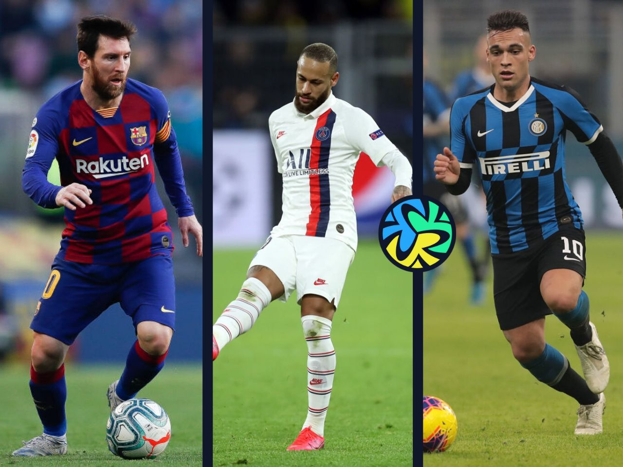 messi, martinez, neymar
