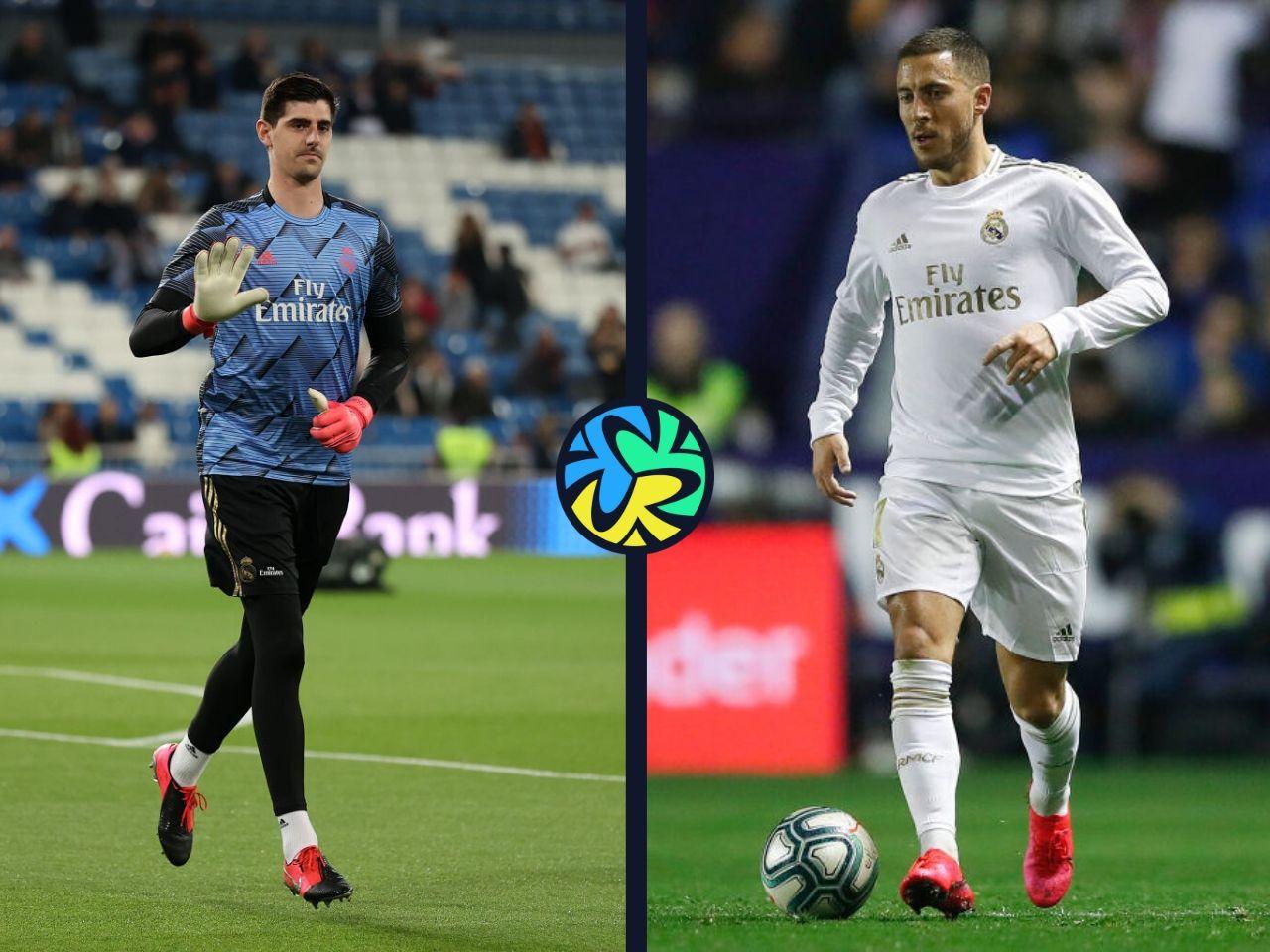 Courtois, Hazard, Real Madrid