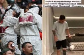 Toilet paper challenge, Messi