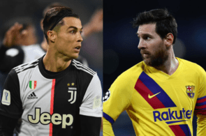 Cristiano Ronaldo of Juventus, Lionel Messi of Barcelona