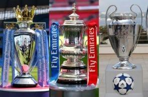 Premier League, FA Cup, Champions League