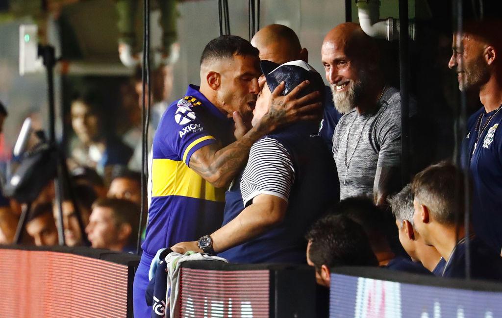 Carlos Tevez, Diego Maradona, Boca Juniors v Gimnasia y Esgrima La Plata