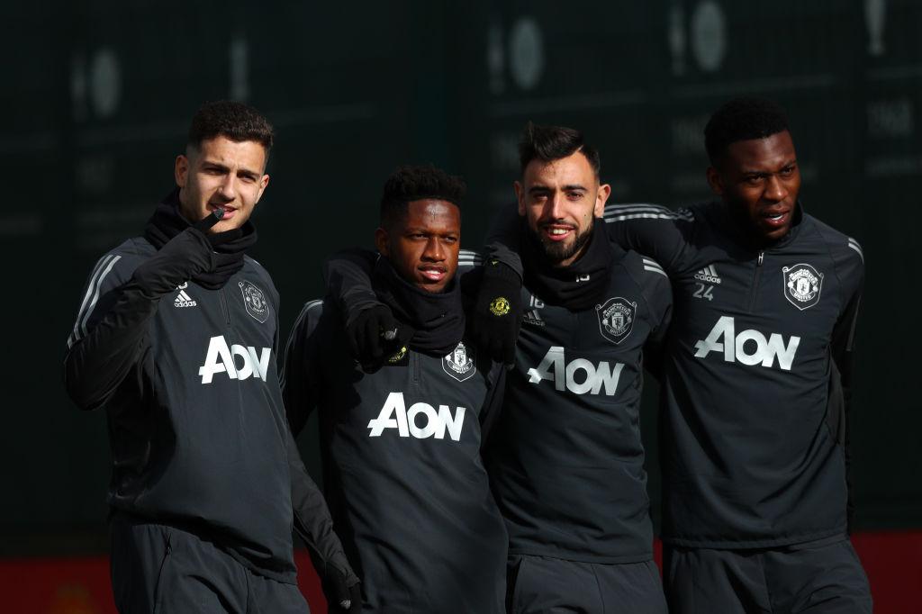 Dalot, Fernandes, Manchester United