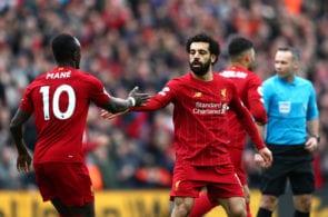 Mohamed Salah, Sadio ManeLiverpool FC v AFC Bournemouth