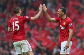 Rio Ferdinand, Nemanja Vidic, Manchester United