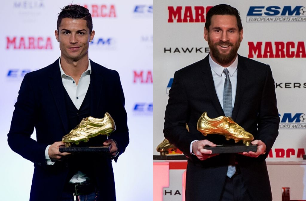Cristiano Ronaldo, Lionel Messi, football records