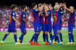 Turan , Iniesta, Messi, Barcelona