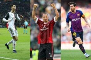 Messi, Ronaldo, Ibrahimovic