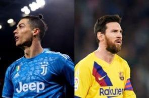 Cristiano Ronaldo of Juventus, Lionel Messi of Barcelona