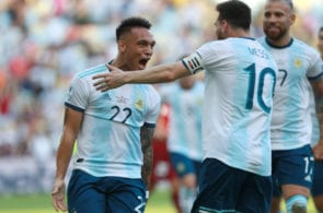 Martinez, Messi, Argentina