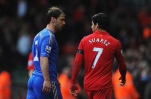 Branislav Ivanovic, Luis Suarez, Liverpool v Chelsea
