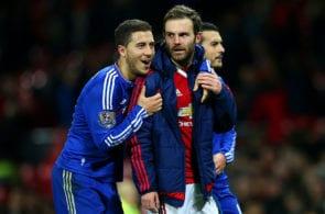 Eden Hazard, Juan Mata