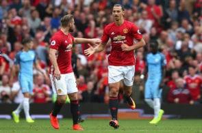 Zlatan Ibrahimovic, Luke Shaw, Manchester United